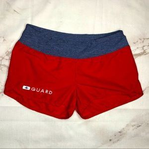 Speedo Red Lifeguard Summer Swim Athletic Shorts